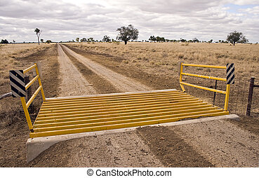Road sign - Grid - Road sign in the Australian outback...