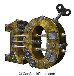 number ten - steampunk number ten on white background - 3d...