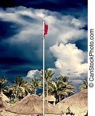 Beach red flag