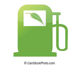 green gas pump illustration design