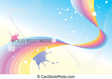 abstract background (rainbow)