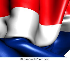 Flag of Netherlands. Close up.