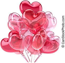 Love balloons pink decoration