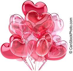 Love balloons pink decoration