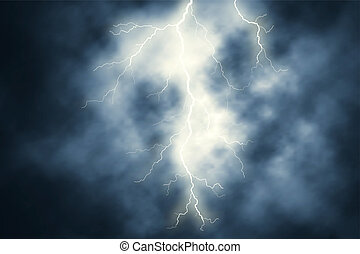 Lightning - Editable vector illustration of a lightning bolt...