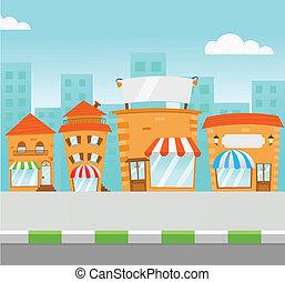 striscia, centro commerciale