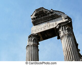 Roman Forum in Rome, Italy - Building ruins and ancient...
