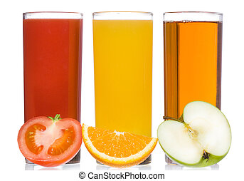 fresh juice with fruits and vegetable