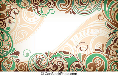 Abstract Frame Background - Illustration of abstract frame...