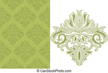Seamless Floral Pattern 1 - illustration of abstract asia...