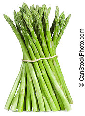 asparagus - fresh asparagus on white background