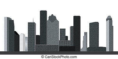 houston skyline - houston usa sklyline