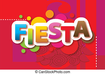 Fiesta Vector red background