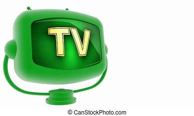 tv - on loop alpha mated tv