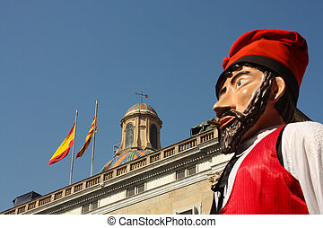 Giant in traditional festivals Barcelona. - Giants and large...