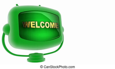 welcome -  on loop alpha mated tv