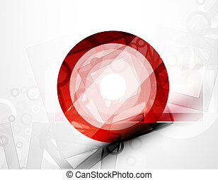 Abstract techno circle vector background - Vector...