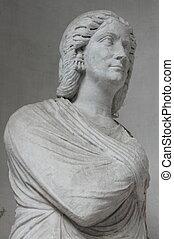 Senator roman bust - White roman bust of a senator