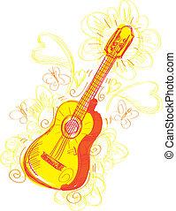 Abstract Guitar Sketchy