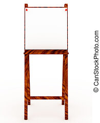 Easel with blank isolated on white background