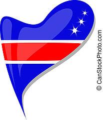 costa rica flag button heart shape. vector - costa rica flag...