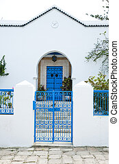 Tunisian House - Traditional Tunisian architecture white...
