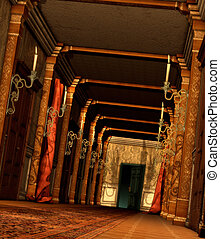 A Curious Hallway - view of the corridor of a mysterious...