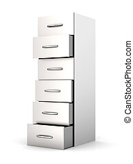 Filing Cabinet - 3D rendered Illustration A filing cabinet...