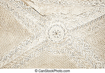 Tunisian ceiling detail - A detail texture image of a...