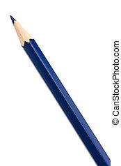 blå, färgbehandling, krita, blyertspenna