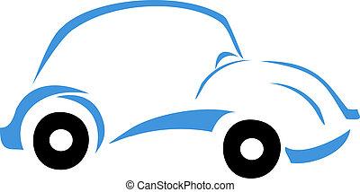 Blue Car Logo - Car graphic design illustration in blue