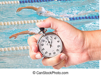chronometer - close up a chronometer to measure swimming...