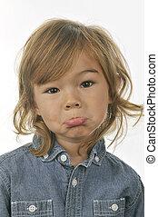 Sad Face - Young boy with a sad face