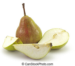 ripe pears isolated on a white background