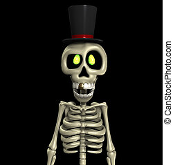 Top Hat Skeleton - A skeleton wearing a fancy top hat