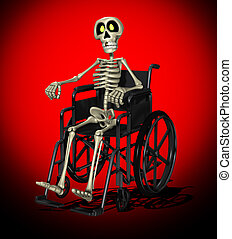Disabled Skeleton - Concept image showing a disabled...