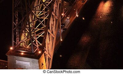 Dom Luis I bridge at night - Dom Luis I bridge in Porto,...