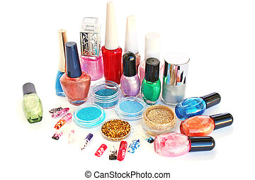 Nail polishes and glitters - Nail polishes,glitters and nail...