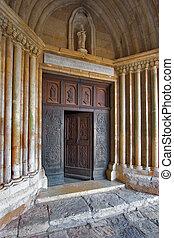 Always the open door - A carved door in ancient church to...