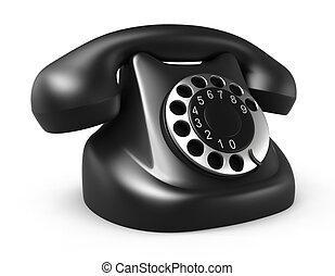 Retro telephone, isolated on white
