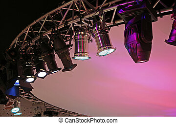 Stage light with copyspace.