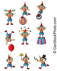 cartoon clown icon