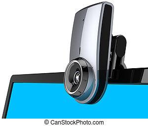Web camera communication close-up