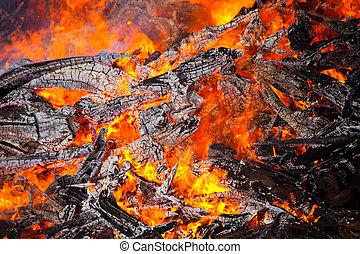 Close-up photo of middsummer fire