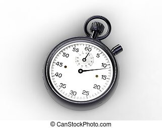 Old Stopwatch - 3d illustration of old stopwatch to see...