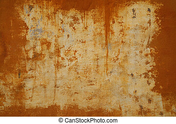 Nice ochre background - Beautiful old stained wal Useful as...