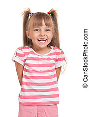 Pretty little girl - Portrait of a pretty little girl on...