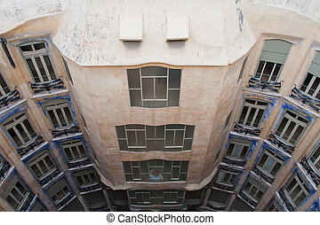 Casa Mila or La Pedrera, architect Antonio Gaudi