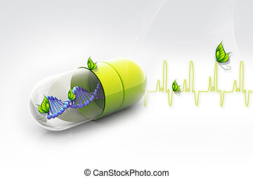 Dna in pill