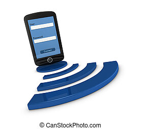 smartphone wifi access - one smartphone with a login screen...